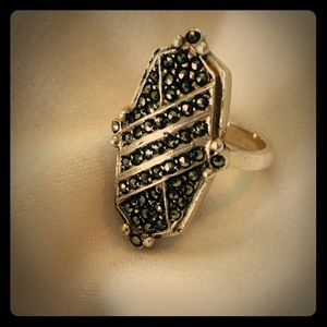 Jewelry - Vintage Art Deco style marcasite and silver ring